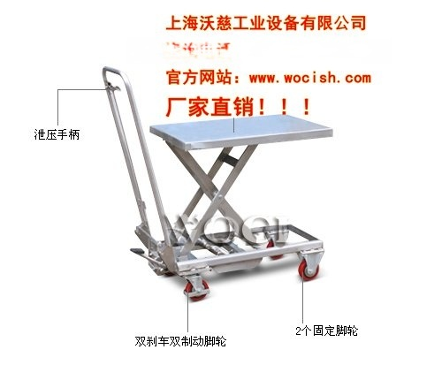 供应WO34080不锈钢平台车