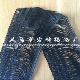厂家直销 花式流苏花边 窗帘服装辅料 12cm 量大从优 欢迎来电