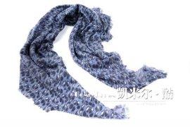 兽点四边穗纯羊绒围巾大方巾(C3766)