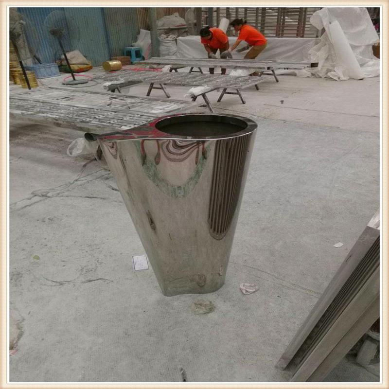 定制多肉不锈钢花盆 简约不锈钢花器 制造不锈钢花盆工艺园艺花器