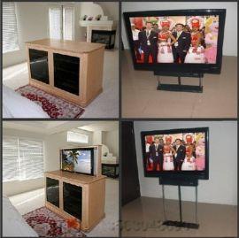 广州晶固品牌适合37-60寸平板LED液晶电视机桌面隐藏式遥控升降机器