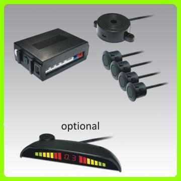 前倒車雷達,4探頭,帶蜂鳴器,LED或LCD顯示屏可選