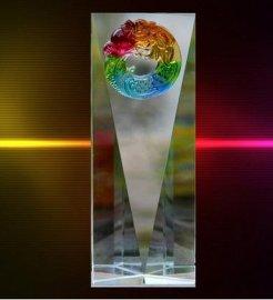 广州水晶奖杯制作,水晶奖杯加工,广州专业定制水晶奖杯
