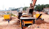鼎盛履帶式移動破碎站在湖南建工集團建築垃圾處置項目