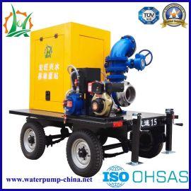 柴油抽水机 移动泵站 牵引式拖车水泵