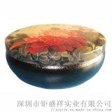 蠟燭鐵罐 橢圓形 馬口鐵 工藝罐