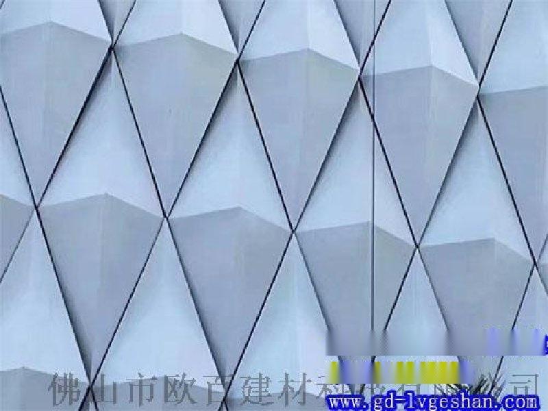 扭曲铝单板造型 波浪形铝单板吊顶 肇庆造型铝单板供应商