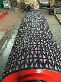 选用优质进口胶水防脱胶的陶瓷包胶滚筒厂家
