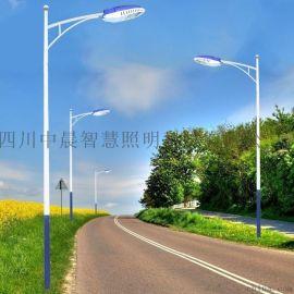 四川6m太陽能路燈現貨丶6m市電路燈丶成都燈杆報價