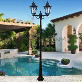 铝制照明双头庭院灯 中式恒逸欧式庭院灯双头庭院灯