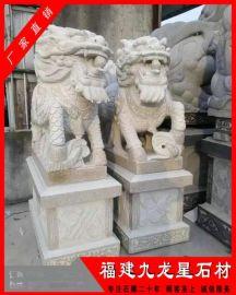 寺院门前石麒麟 石雕麒麟价格 石材麒麟加工