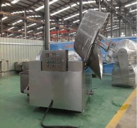 半自动油炸锅 豆泡鱼豆腐油炸机自动进料自动出料设备