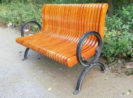 广州易居供应实木公园休闲椅靠背椅路边休息椅小区休息椅