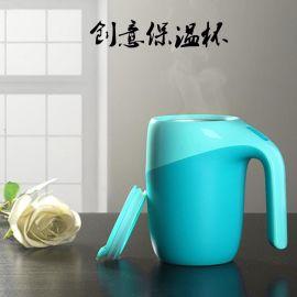 创意不倒杯带盖不锈钢创意保温杯简约杯