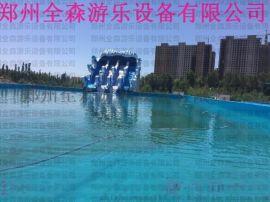 新款移动水上乐园图片 大型支架水池儿童游泳池厂家