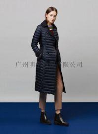 高端羽絨服女裝品牌折扣店貨源就到廣州明浩