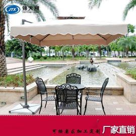 重庆边柱伞厂家 重庆铝合金双层单边侧立伞