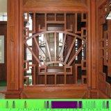 廠家專業定制中式復古外牆木紋鋁窗花 圖案造型設計 熱轉印仿木紋