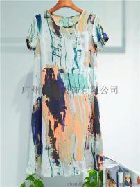 深圳**维资诺夏装时尚休闲棉麻大码连衣裙女装