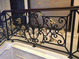 广州别墅楼梯铁栏杆 楼梯栏杆定制 室内楼梯栏杆