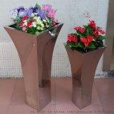 不鏽鋼鏡面花盆 定做不鏽鋼花瓶