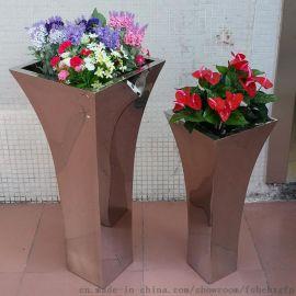 不锈钢镜面花盆 定做不锈钢花瓶
