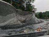 定製不鏽鋼假山雕塑水景不鏽鋼管扭彎成型假山雕塑廠家