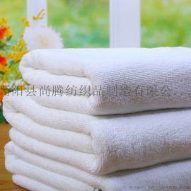 酒店白毛巾浴巾厂家直销可提标绣字