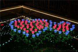 玫瑰花灯LED发光玫瑰灯/仿真玫瑰花灯