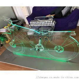 舍弗勒亚克力造型自行车模型定制 亚克力异型道具模型