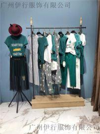 拉素品牌折扣尾货韩版女装艾利欧直播货源广州供应商
