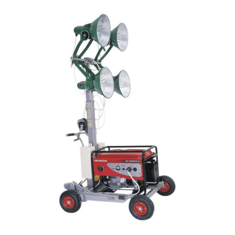 多功能远程投射灯 小型推车式汽油发电机