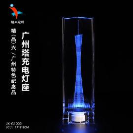 广州建筑地标礼品,水晶3D内雕纪念品