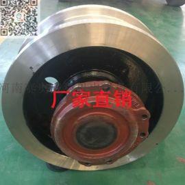 欧式起重机车轮组价格 φ200球墨铸铁主动车轮 欧式端梁运行机构 轮宽130