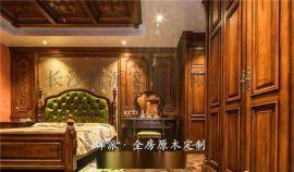 长沙法式实木家具实木酒柜、实木鞋柜门订制环保油漆