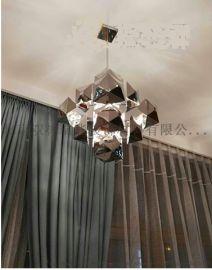 美式轻奢几何图形酒店别墅餐厅用灯