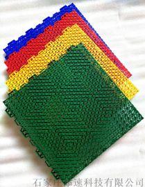 济南绿色弹垫悬浮地板山东拼装地板自己工厂