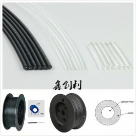 优质低衰减单芯黑皮通信塑料光纤内1.0外2.2光缆传感放大器光纤线