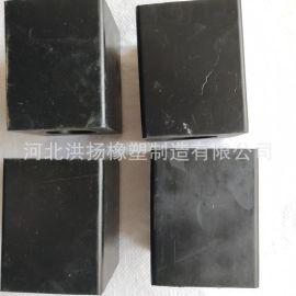生产定制 长方形橡胶减震块 耐磨减震橡胶制品 天然胶减震橡胶块