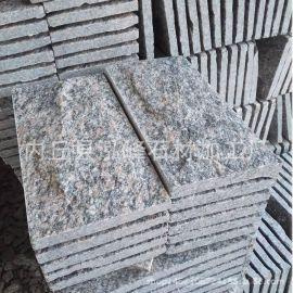 厂家直销牡丹红蘑菇石/牡丹红文化石/花岗岩蘑菇石/别墅外墙石材