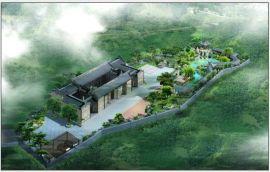 古式建筑效果图,四合院设计, 园林绿化方案设计,