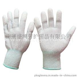 13针碳纤维涂指手套 防静电手套