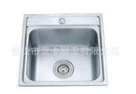 优质不锈钢单槽方形洗菜盆420*420 LK8203