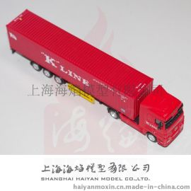 "1: 87 ""K""LINE**真集装箱货柜车模型可批量生产"