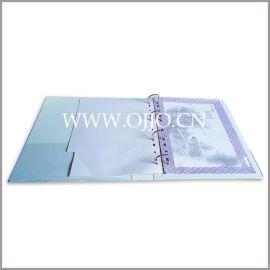 硬纸板文件夹/资料夹 封面 可印LOGO工作活页夹厂家定制