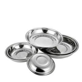 厂家直销 加厚不锈钢深盘 家用饭菜盘子 圆盘碟子批发16-26CM