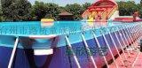 江苏无锡大型移动水上乐园定制支架游泳池水上冲关厂家
