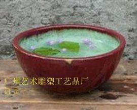 釉面陶罐 彩绘花盆样式 流水釉面陶罐花盆
