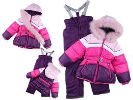 俄罗斯外贸冬季户外加绒加厚儿童滑雪服套装女童保暖滑雪服零下30度