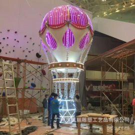 玻璃钢商场主题雕塑 热气球雕塑装饰品商场美陈景观装饰摆件